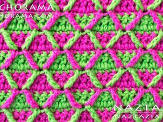 Crochet 3D Honeycomb Post Stitch from Stitchorama Collection