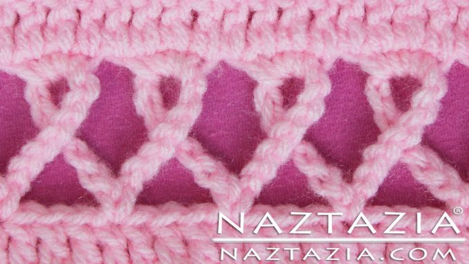 Crochet Pink Awareness Ribbon Scarf for Breast Cancer