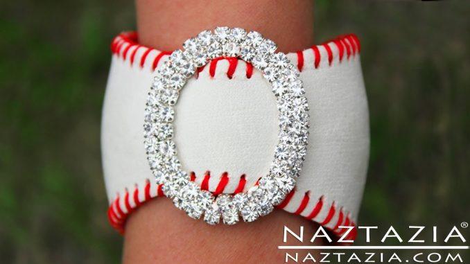 Baseball Cuff Bracelet Jewelry Made from a Real Baseball
