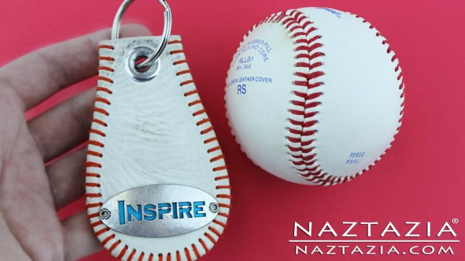 Baseball Key Chain Made from a Real Baseball