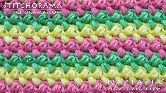 Crochet Bean Stitch and Mini Puff Stitches from Stitchorama Collection