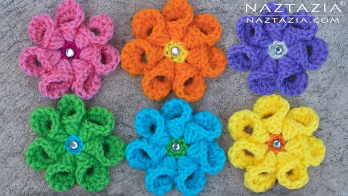 Crochet Bell Petal Flower and Flowers with a Twist