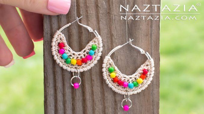 Crochet Boho Bead Earrings Jewelry