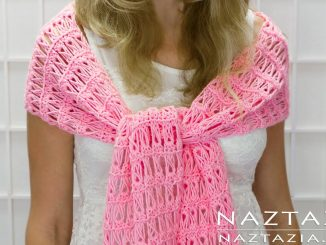 Broomstick Lace Crochet Shawl So Lacy Wrap