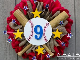 Baseball Burlap Wreath for Sports Season