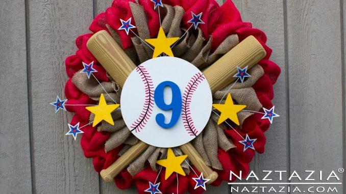 Baseball Burlap Wreath for Sports Season