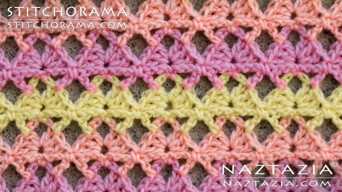 Crochet Butterfly Shell Stitch from Stitchorama Collection
