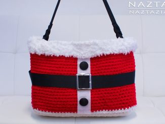 Crochet Santa Handbag for Christmas