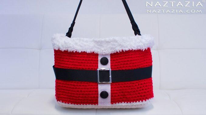 Crochet Santa Handbag for Christmas