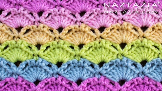 Crochet Colorful Shell Stitch from Stitchorama Collection