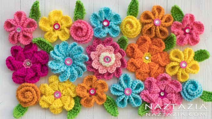 Crochet and Knit Flower Collection