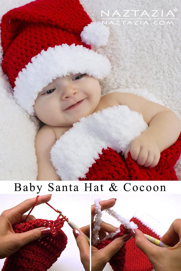 crochet baby santa hat cocoon pin02