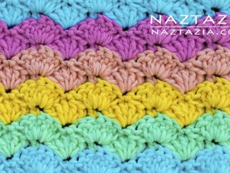 Crochet Easy Shell Stitch - Good for Blankets Scarves Shawls and Blankets