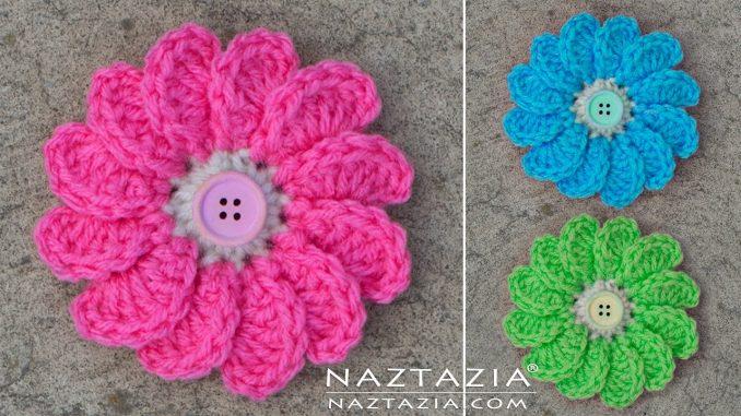 Crochet Flowing Flower with Petals