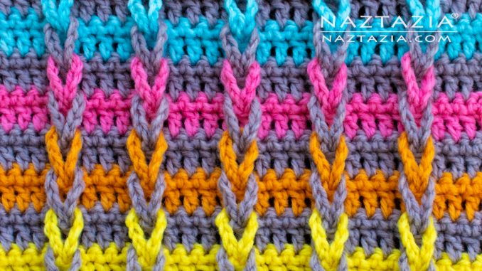 How to Crochet the Jacob's Ladder Stitch - Naztazia ®