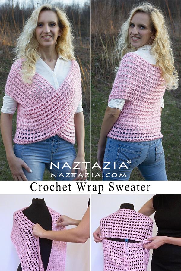 Crochet Wrap Sweater Vest