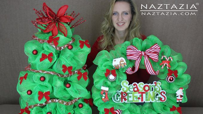 Christmas Tree With Mesh.How To Make A Deco Mesh Christmas Tree Naztazia