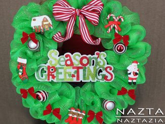 Deco Mesh Christmas Holiday Season Winter Wreath