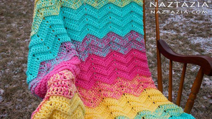 Crochet Double Sweet Ripple Blanket and Afghan