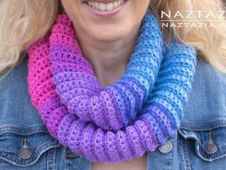 Crochet Easy Cake Yarn Scarf with Lion Brand Mandala