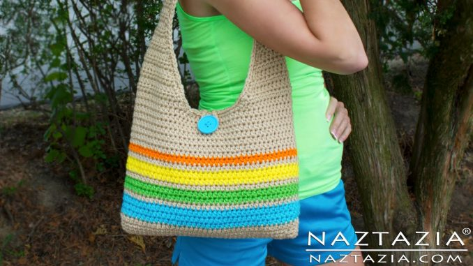 Crochet an Easy Tote Bag with Stripes