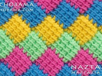 Crochet Entrelac Patchwork using Tunisian Crochet from Stitchorama Collection
