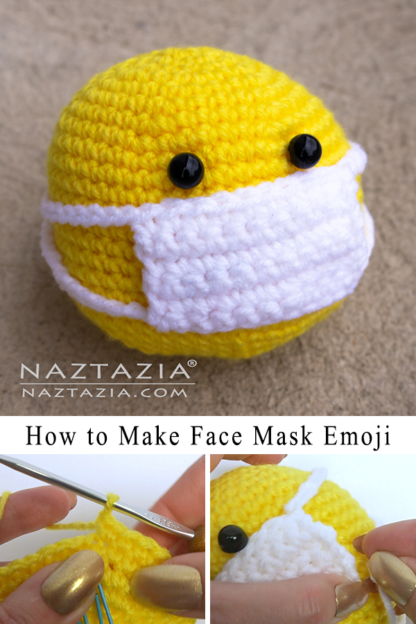 Crochet Face Mask Smiley Ball Emoji