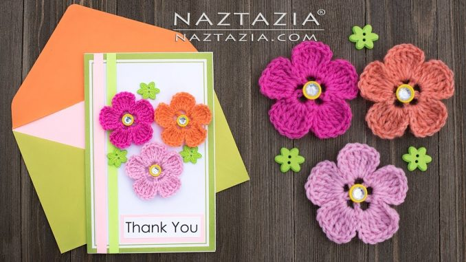 Crochet Flower Greeting Card