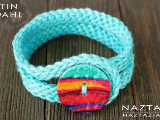 Crochet Bracelet from the new book by Kristin Omdahl called 80 Handmade Gifts