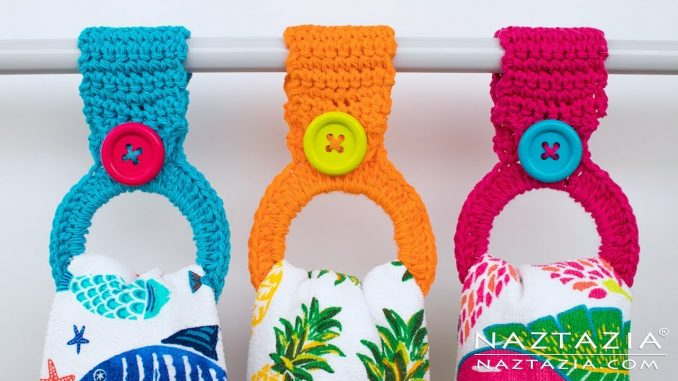 Crochet Hanging Ring Towel Holder