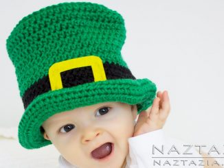 Crochet Irish Top Hat for Babies and St Patricks Day Baby Hat