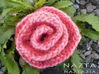 Beginner Knit Rose Flower and Easy Knitted Rolled Roses