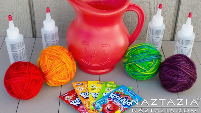 How to Dye Yarn with Kool Aid