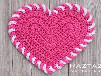 Crochet Light Heart Dishcloth and Decoration