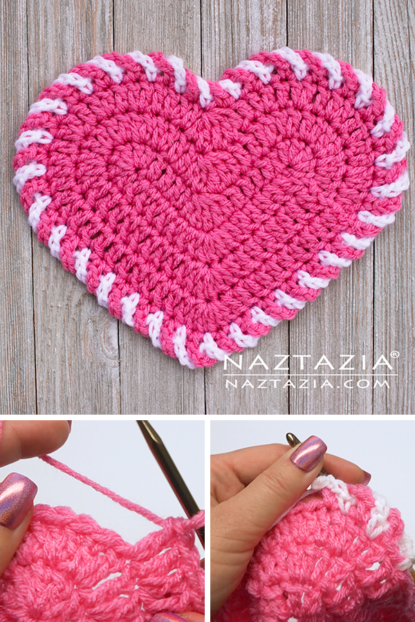Crochet Light Heart Dishcloth and Decoration