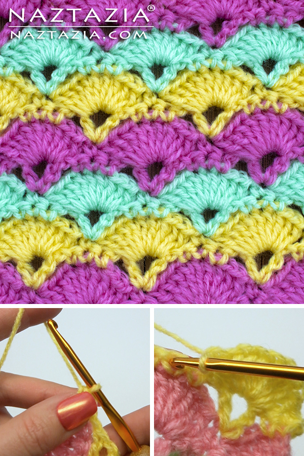 Crochet Offset Shell Stitch from Stitchorama Collection