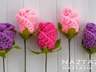 Crochet Simple Origami Rose Flower are Easy Roses and Flowers