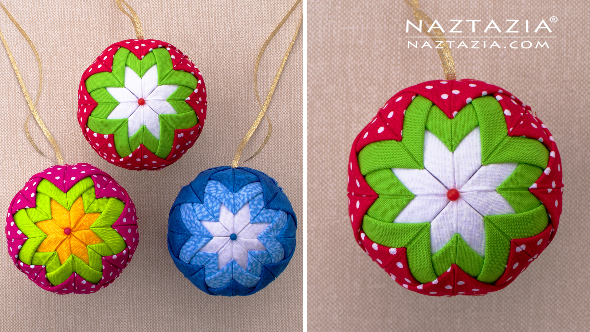 Quilted Ornaments Naztazia