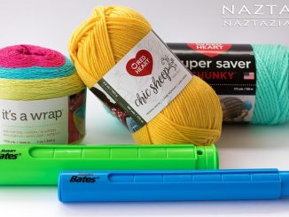 Showcase on Red Heart Yarns and Susan Bates Stitch Holder Review