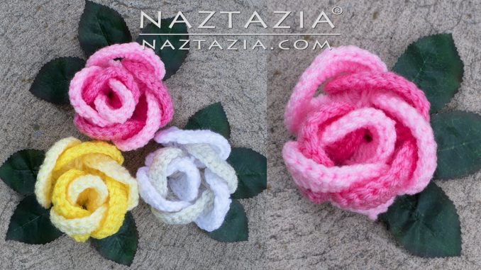 Crochet Ring of Roses and Rose Flower Made by Joining Rings