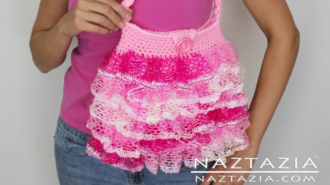 Crochet Ruffle Yarn Purse and Handbag