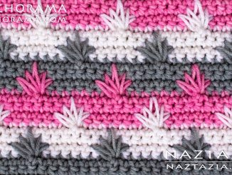 Crochet Spike Stitch Cluster from Stitchorama Collection