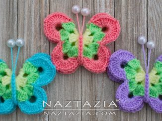 Crochet Sweet Simple Butterfly and Colorful Butterflies