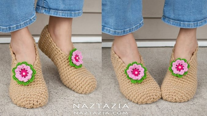 Crochet Sweet Simple Slippers for Your Feet