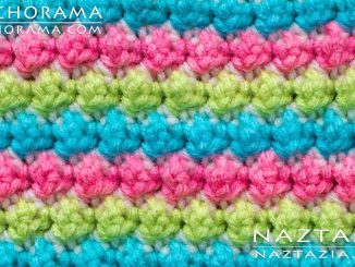 Crochet Trinity Stitch and Blackberry and Bramble Stitches from Stitchorama Collection