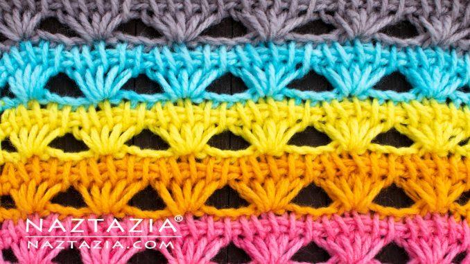 Tunisian Crochet Shell Stitch Naztazia