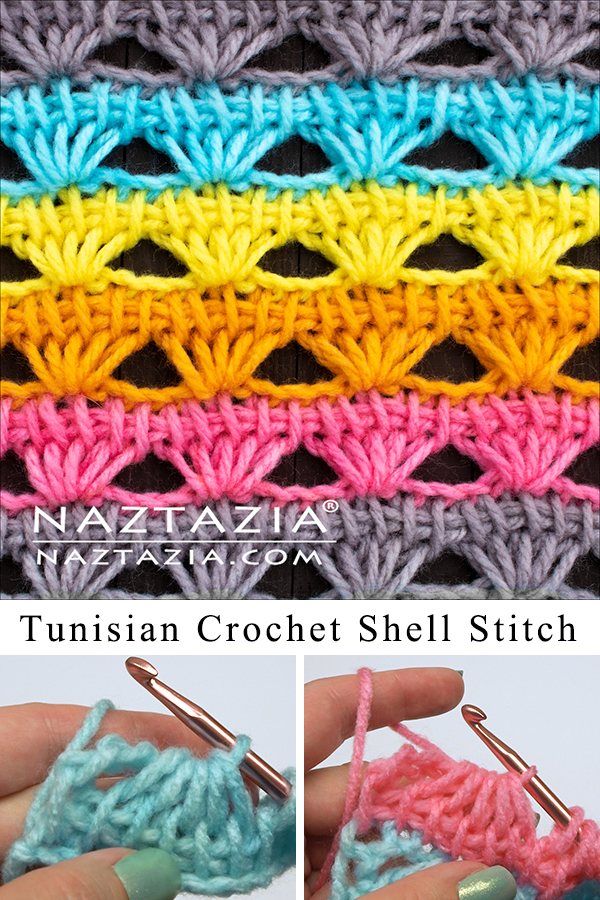 How to Tunisian Crochet a Shell Stitch