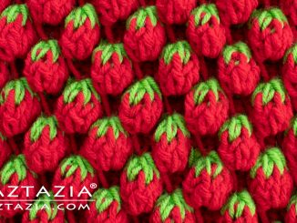 How to Crochet the Strawberry Stitch using Tunisian Crochet Stitches