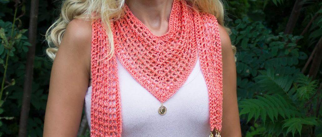 Crochet V Scarf
